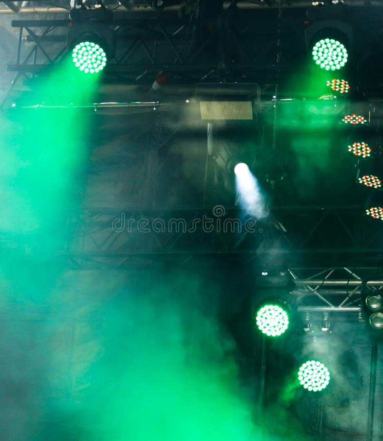 Licht auf dem Stadium als abstrakten Hintergrund stockfotos