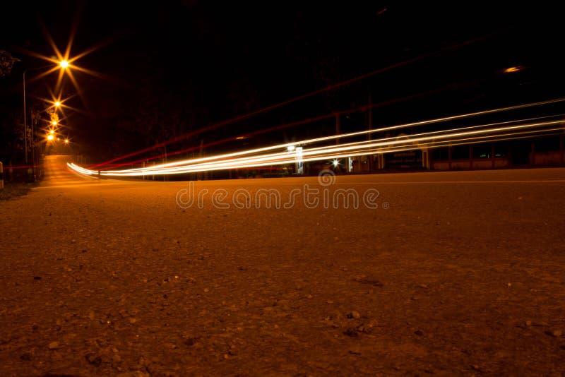 Licht bij nacht stock afbeeldingen