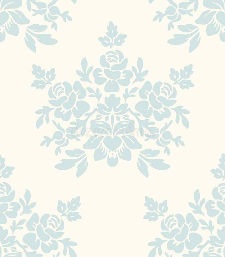 Licht bloemen uitstekend naadloos patroon stock illustratie