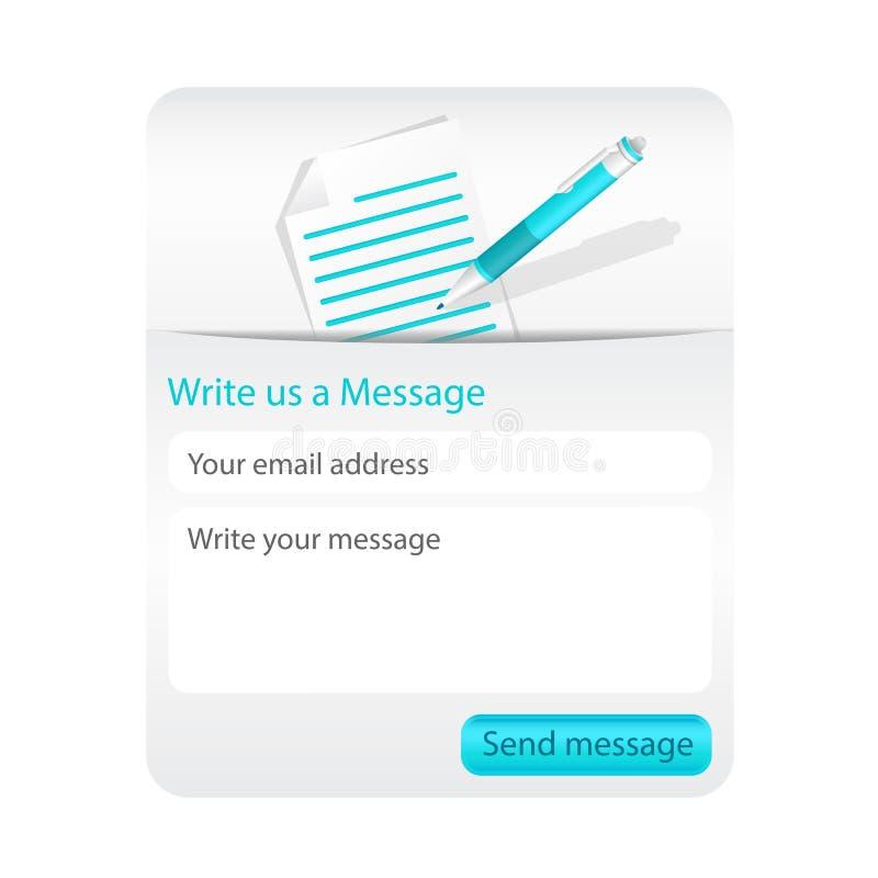 Licht contacteer ons vorm voor websites royalty-vrije illustratie