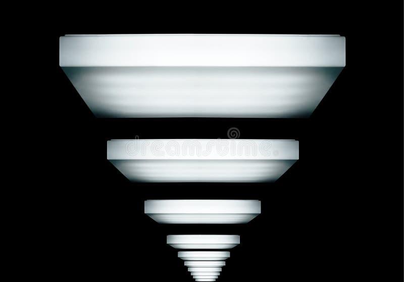 Licht in dark stock afbeelding