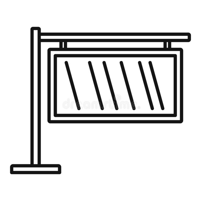 Licht de bannerpictogram van de glasstad, overzichtsstijl vector illustratie