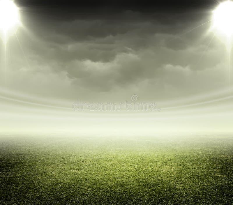 Licht des Stadions stockbilder