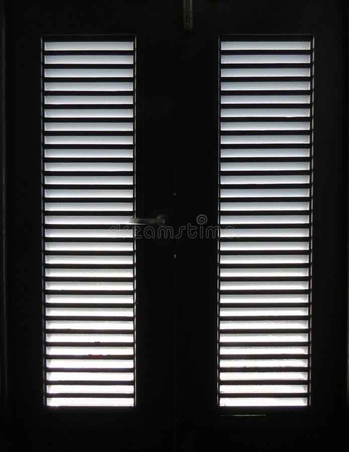 Licht door Deurlatjes royalty-vrije stock foto's