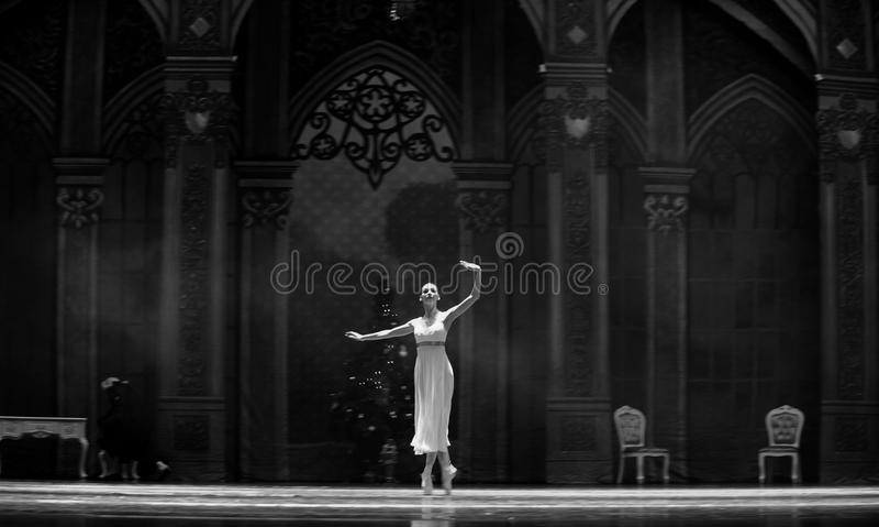 Licht en de schaduw-Balletnotekraker stock afbeeldingen