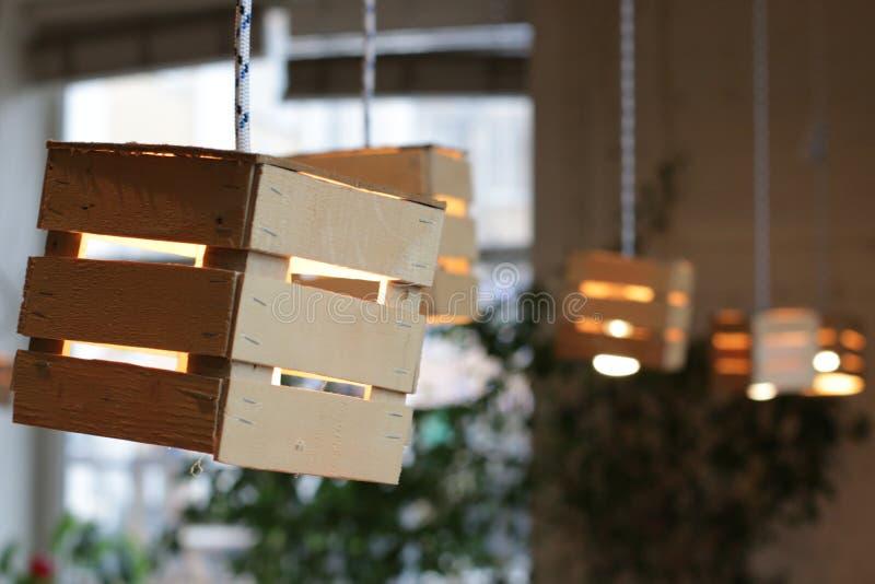 Licht en hout stock afbeeldingen