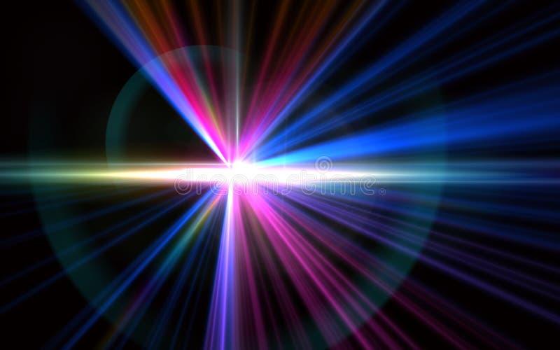 Licht gloed speciaal effect De balgloed van het aarspectrum royalty-vrije illustratie