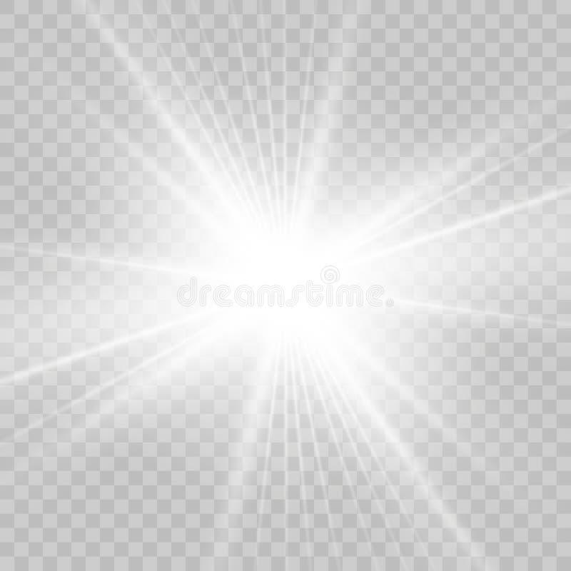 Licht gloed speciaal effect Vector illustratie royalty-vrije stock afbeeldingen
