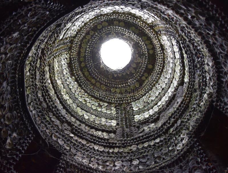 Licht goed in Shell Grotto Margate royalty-vrije stock foto's