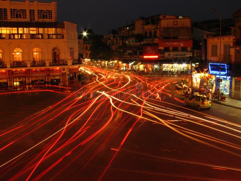 Licht in Hanoi stock afbeelding