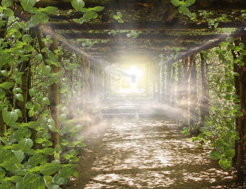 Licht in hemel Manier aan de helende energie van GoCosmic royalty-vrije stock afbeeldingen