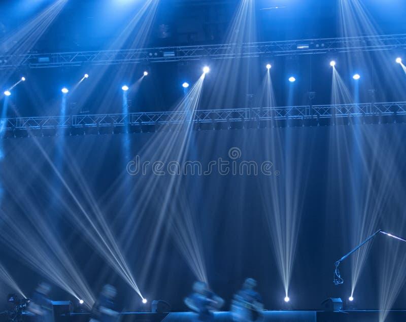 Licht in het theater royalty-vrije stock afbeeldingen