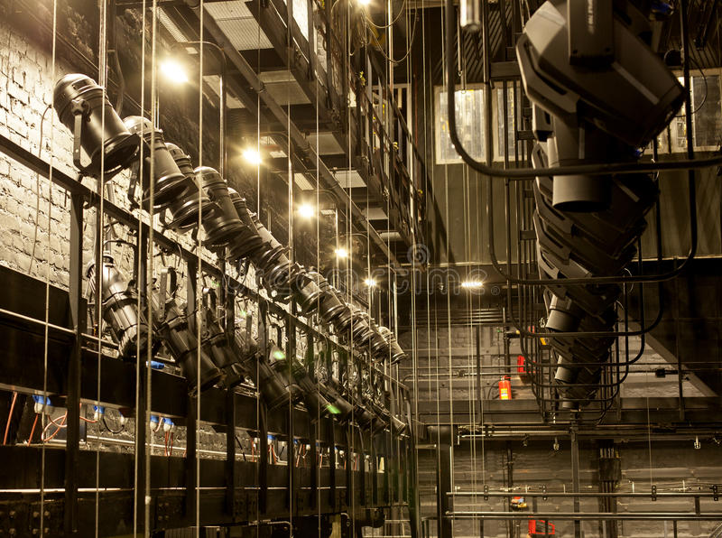 Licht in het theater royalty-vrije stock fotografie