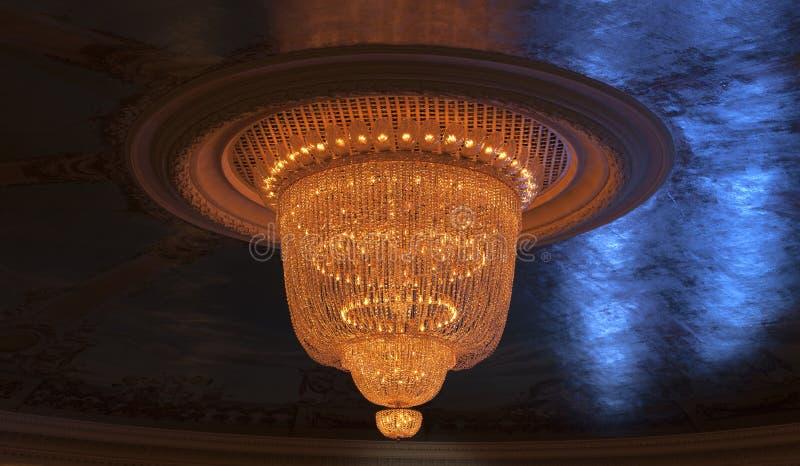 Licht in het theater stock foto