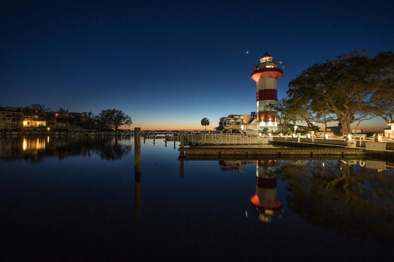 Licht Huis in Hilton Head Island stock foto