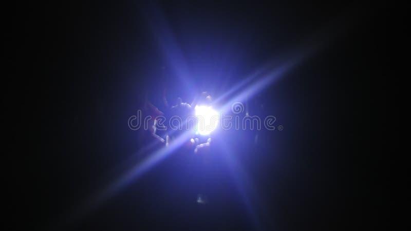 Licht im dunklen gundam lizenzfreie stockfotos