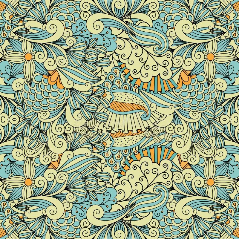 Licht kleuren etnisch decoratief patroon royalty-vrije illustratie