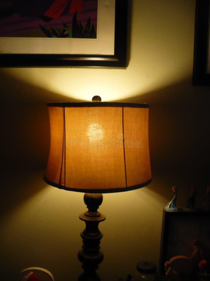 Licht mit Bild über ihm stockfoto