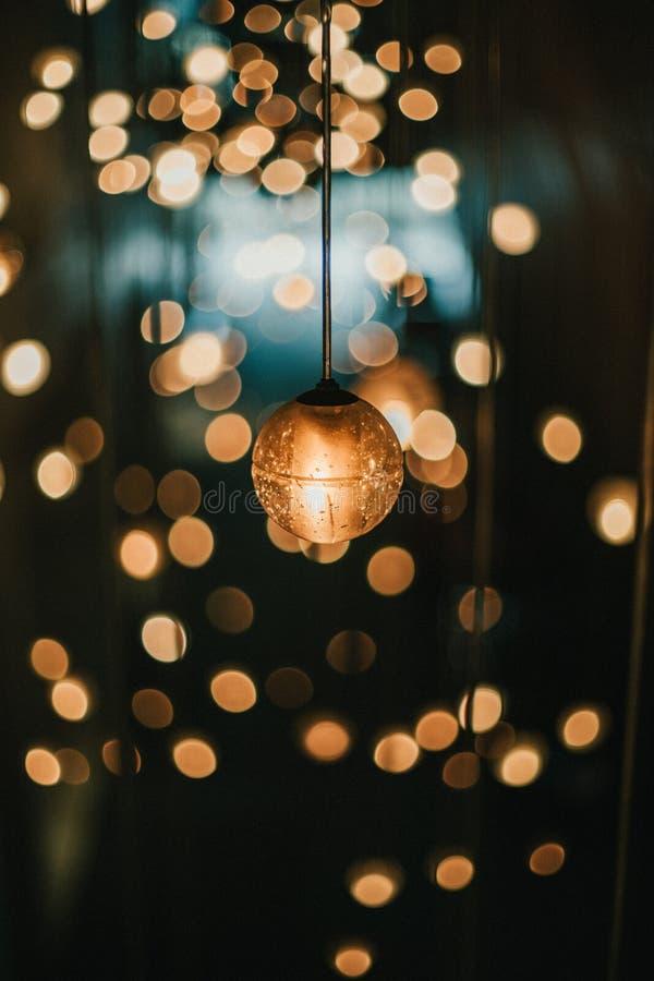 Licht mit bokeh Hintergrund stockfotos