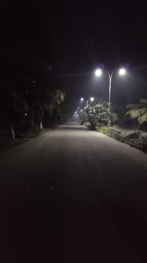 Licht mit Smog stockbild