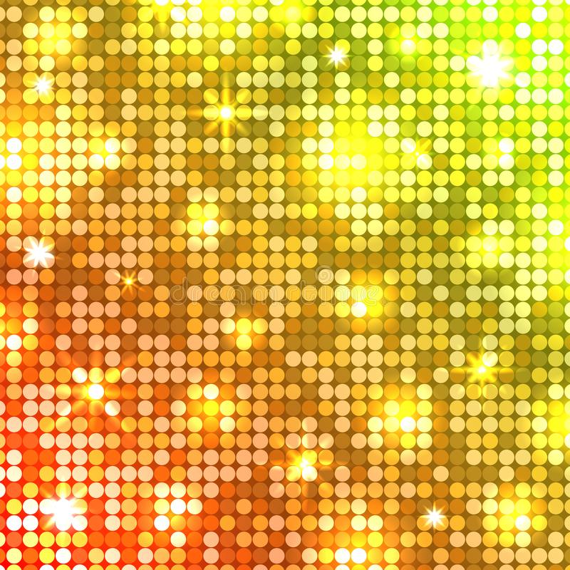 Licht mozaïek De achtergrond van de disco Vector vector illustratie