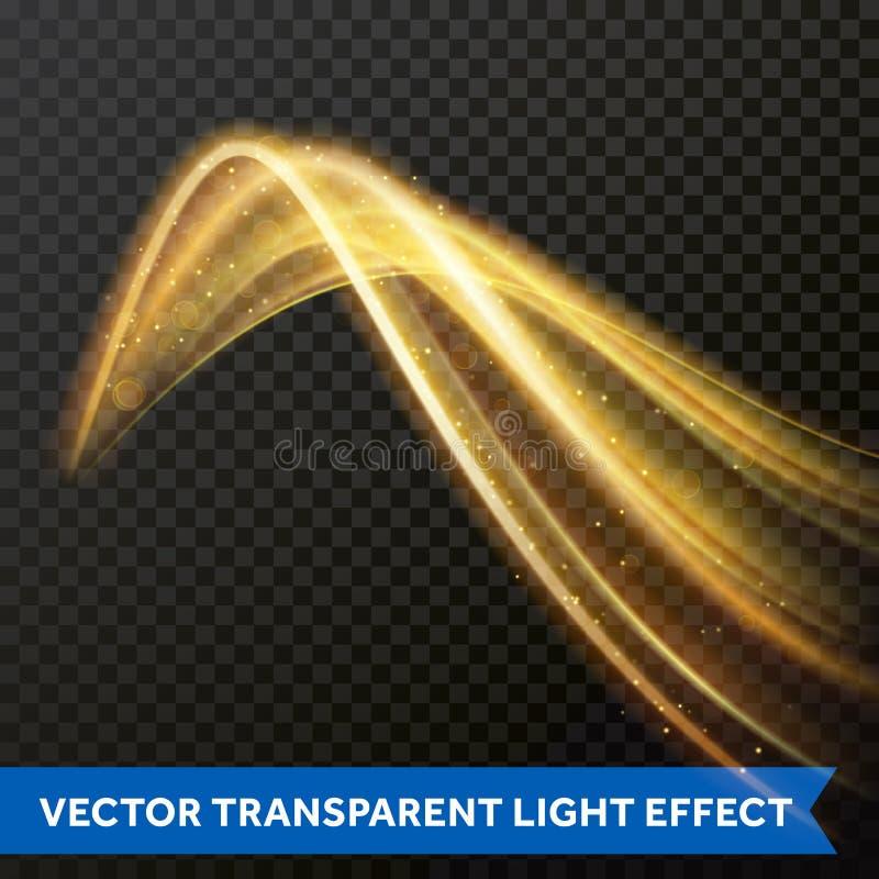 Licht multilijn het vinden effect Het vectorspoor van de brand lichte gloed royalty-vrije illustratie
