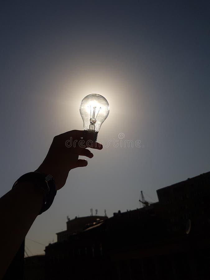 Licht omhoog de zon stock afbeelding