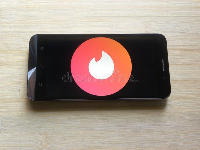 Licht ontvlambare stof op mobiele telefoon stock foto's