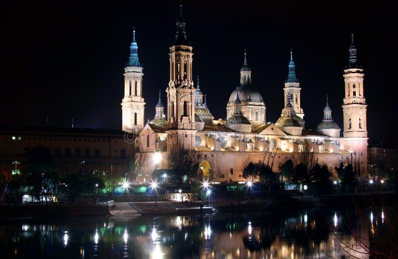 Licht op een Spaanse kathedraal royalty-vrije stock foto