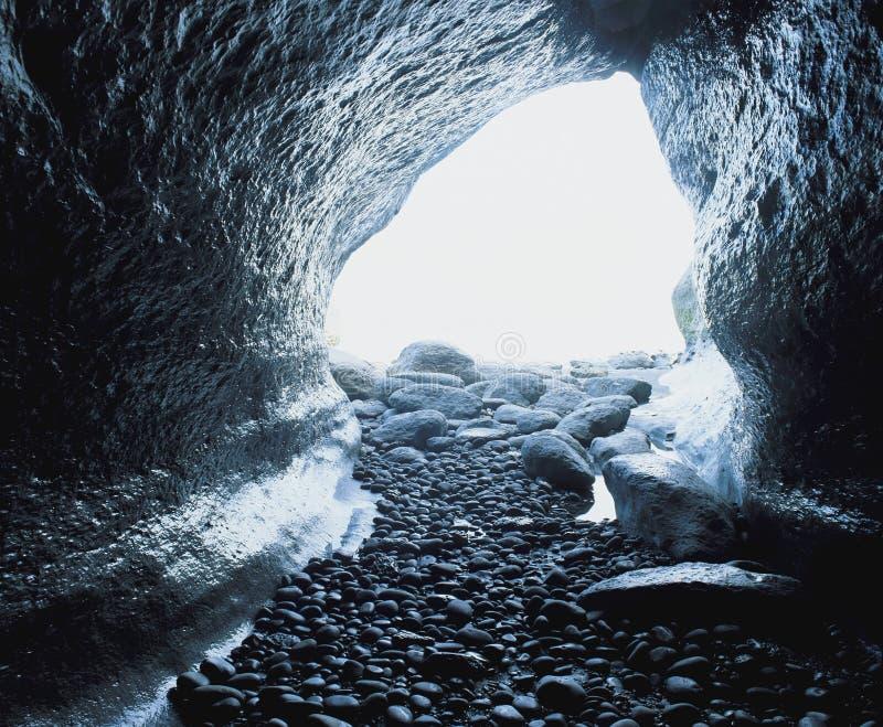 Licht op eind van tunnel royalty-vrije stock afbeeldingen