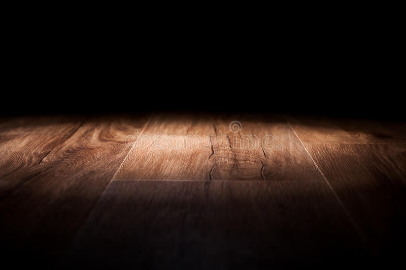 Licht op houten stock foto's