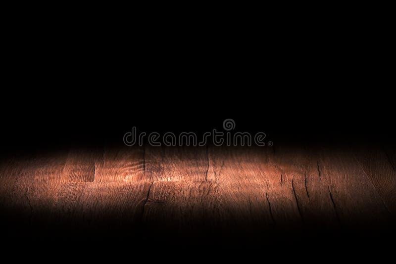 Licht op houten stock foto