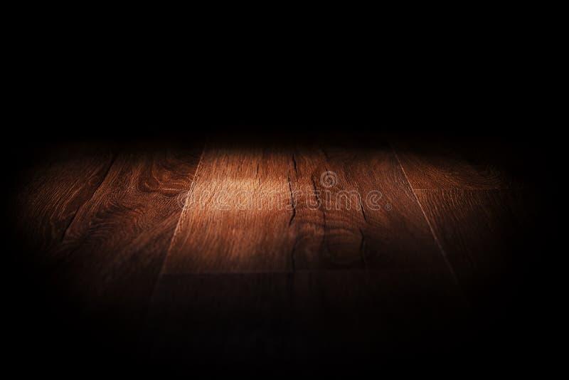 Licht op houten vloer royalty-vrije stock fotografie