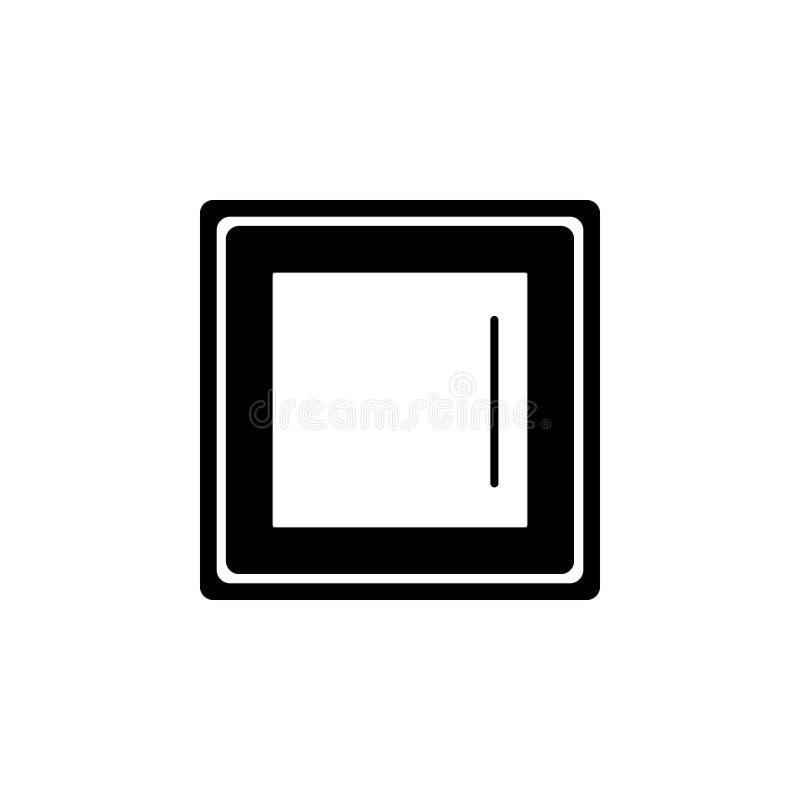 Licht schakelaarpictogram stock illustratie