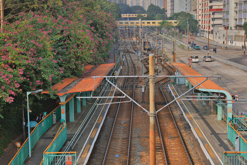 Licht Spoor in Tuen Mun Hong Kong royalty-vrije stock afbeeldingen