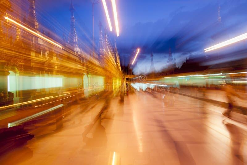 Licht strömt Hintergrund. stockfotografie
