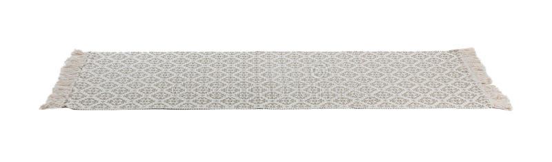 Licht tapijt met ornament op witte achtergrond royalty-vrije stock afbeelding