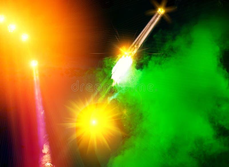 Licht toon stock afbeelding