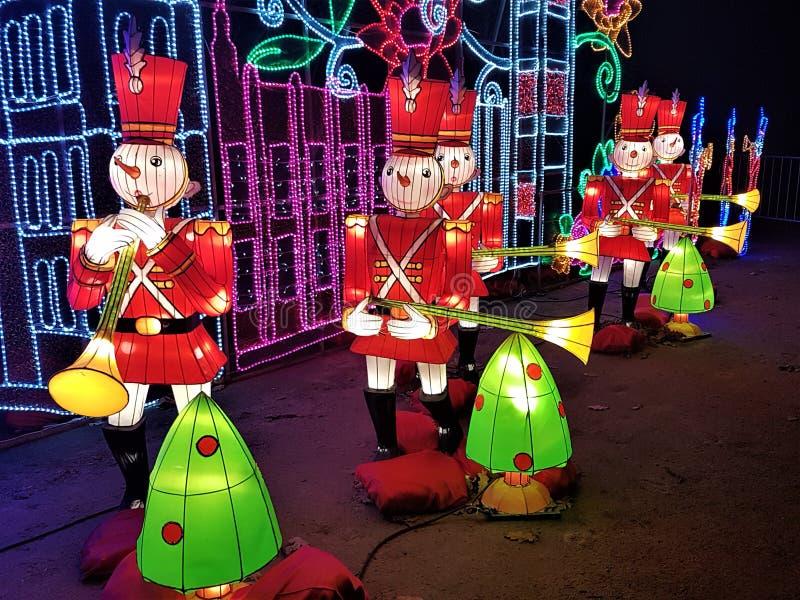 Licht van de Kerstmis toont het Magische Lantaarn, Londen, het UK stock foto's