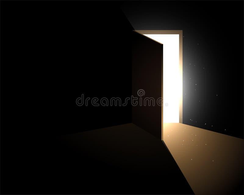 Licht van de open deur vector illustratie