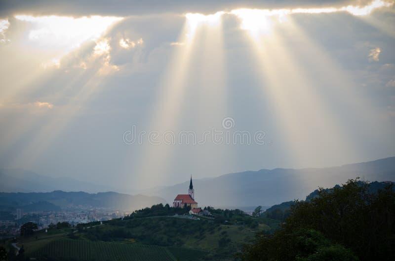 Licht van hemel stock afbeelding