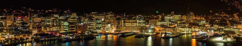 Licht van Wellington City stock afbeelding
