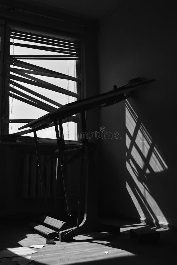 Licht in Venster stock afbeelding