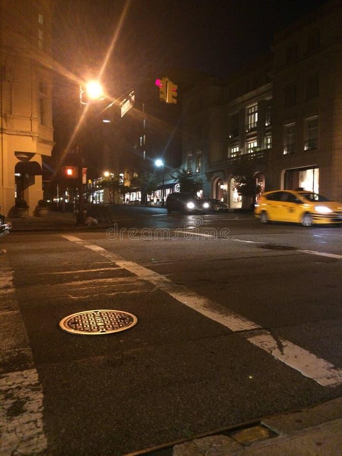 Licht von einem Taxi stockbilder