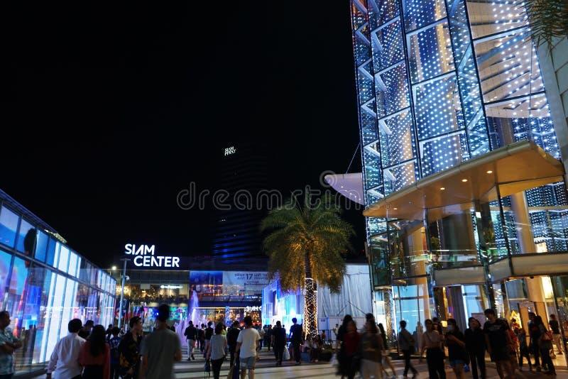 Licht von Siam-Mitte nachts lizenzfreie stockbilder