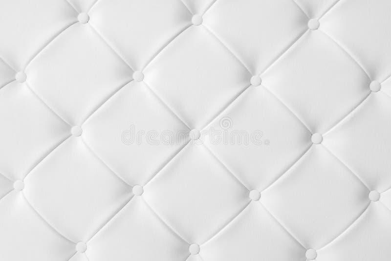 Licht wit van de de banktextuur van de luxestoffering concept als achtergrond FO royalty-vrije stock fotografie
