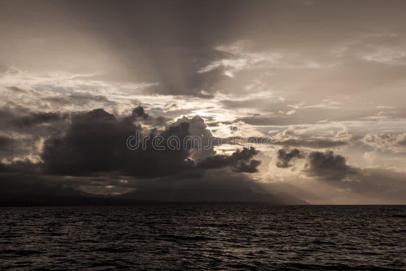 Licht, Wolken, en Eilanden royalty-vrije stock foto