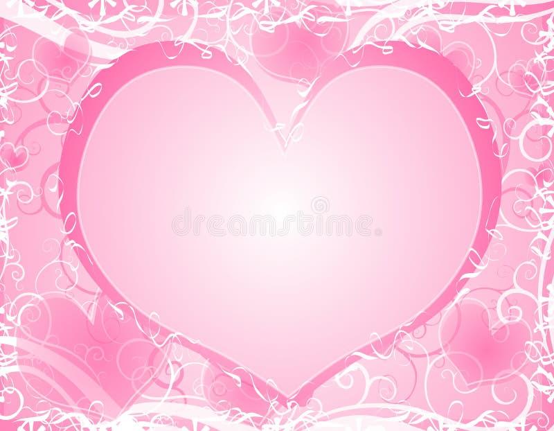 Licht Zacht Roze van het Hart Frame Als achtergrond royalty-vrije illustratie