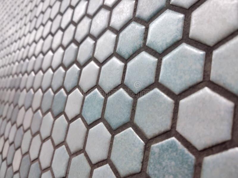 Lichtblauw hexagon patroon royalty-vrije stock afbeeldingen
