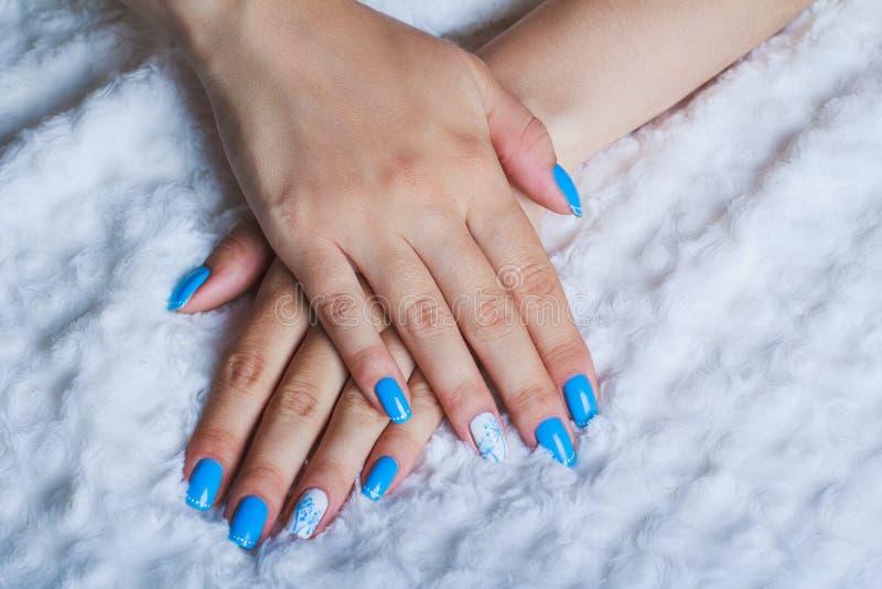 Lichtblauw spijkerart. stock foto
